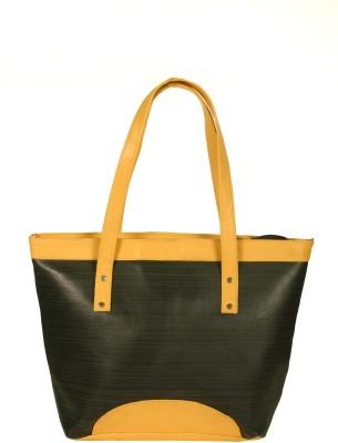 India Unltd Black & Cream Tote Bag School Bag