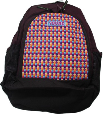 Young College Back Pack Backpack(Purple, 18 inch)