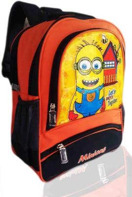 Digital Bazar Delicious Orange Miracle Son Cartoon School Bag (PUNJABI MAHARASTRIAN DELHI) Edition Kids Backpack Waterproof School Bag