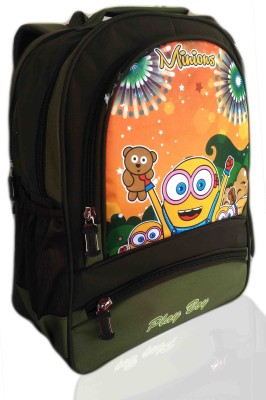 Digital Bazar Roman Green Cartoonica Son Cartoon School Bag (PUNJABI) Edition Kids Backpack Waterproof School Bag