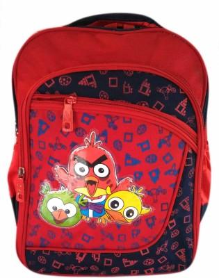 Digital Bazar Red Gamer Angry Birds Kids Backpack Waterproof School Bag