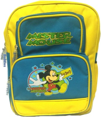 Riddi Impex Super Star Mister Mouse Waterproof School Bag