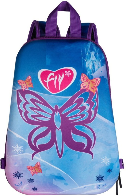 T-Bags Butterfly For Girls Waterproof Backpack(Purple, 15 inch)