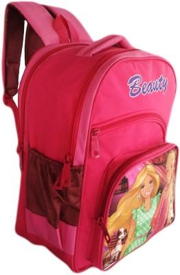 Digital Bazar Charming Pink Barbie Kids Backpack Beauty VOL 1 Waterproof School Bag