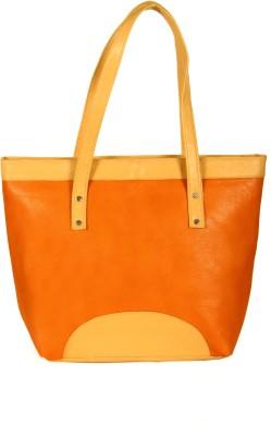 India Unltd Orange & Cream Tote Bag School Bag