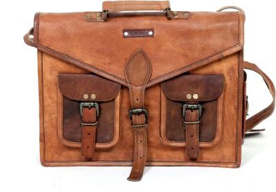 Raw Hide Shoulder Bag(Brown, 15)