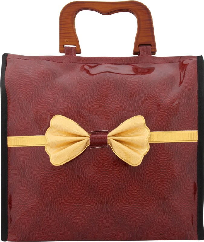 OpulenceMedia Waterproof Lunch Bag(Maroon, 15 inch)