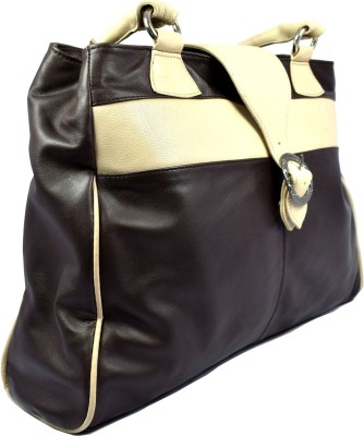 Canthari Coffee Brown two shade leather Bag School Bag