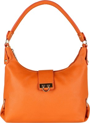 Lino Perros Shoulder Bag(Orange, 4 inch)