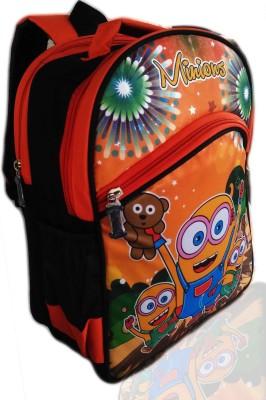 Digital Bazar Fabulous Chicago Orange MIRACLE MAHARSTRIAN BOY Cartoon (PURAN POLI) SUPER Edition Waterproof School Bag