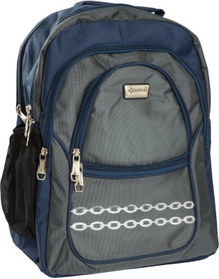 Compass String Series Multi-Pocketed (18 inch) Waterproof School Bag