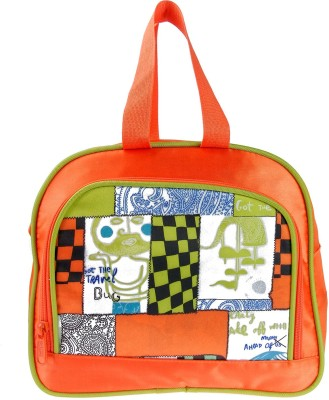 JG Shoppe Lunch Bag Waterproof School Bag(Orange, 5)