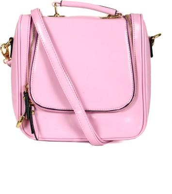 India Unltd patent Leather Purple backpack School Bag