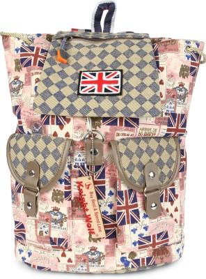 Knight Wolf LM1-Flag-Brown School Bag