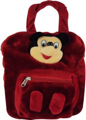 Sisamor Red Mouse with Pocket Kids School Bag