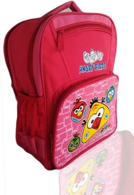 Digital Bazar Denver Pink Angry Birds Kids Cartoon Backpack(ANDROID)Edition Waterproof School Bag