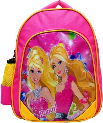 Molaz Rosa Beautiful Waterproof School Bag(Pink, Yellow, 14 inch)