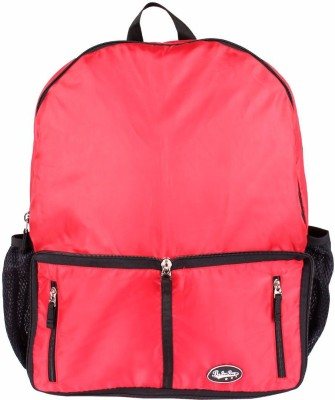 Be for Bag Double Zipper Red Foldable Backpack
