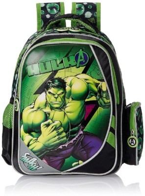 Hulk Black and Green School Bag