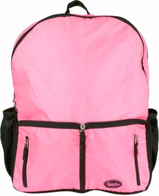Be for Bag Double Zipper Pink Foldable Backpack
