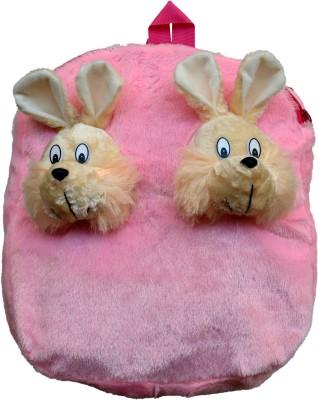 Funtastic Pink Twin Bunny Design Kids School Bag School Bag