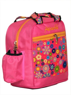 Attache Padded 1 Container Box (Pink01) Waterproof School Bag(Multicolor, 4 L)