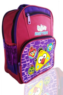 Digital Bazar Dellas Pink Hangry Birds Kids Backpack Cartoon Net(AMERICAN KERELA) Edition Waterproof School Bag