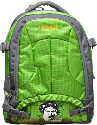 Gleam Mesh Padded School Waterproof School Bag(Green, 17 inch)