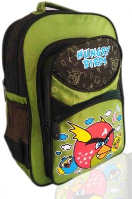 Digital Bazar Russian Yummy Green MIRACLE BIRD Cartoon School Bag (PAPA) Edition Waterproof School Bag