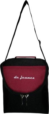 de jeunez Lunch Bags Waterproof Lunch Bag(Black, Maroon, 8 inch)
