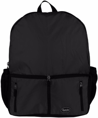 Be for Bag Double Zipper Black Foldable School Bag