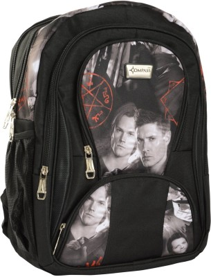 Compass Cool Style Multi-pocketed Trendy Prints (18 inch) Waterproof School Bag