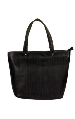 India Unltd Black P.U. Tote Bag School Bag