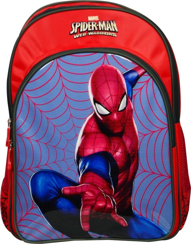 Spiderman School Bag(Red, 18 inch)