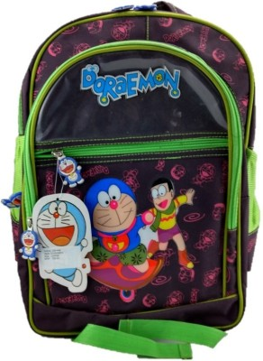 indidecor Doraemon Green 1 School Bag