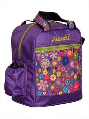 Attache Padded 1 Container Box (Red) Waterproof School Bag(Multicolor, 4 L)