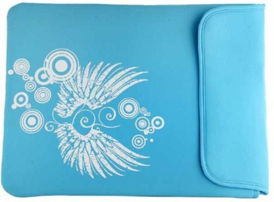 Techbyte Light Blue Wings Printed Sleeve Laptop Bag
