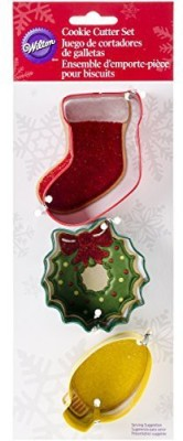 Wilton Christmas Mantel Metal Cookie Cutter Set Cookie Cutter(Pack of 3)