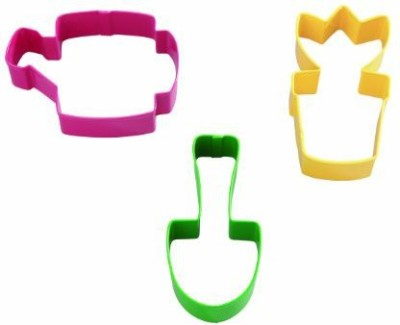 Wilton Garden Colored Metal Cutter Set Cookie Cutter(Pack of 3)