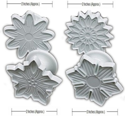 THW Unique Flowers Shaped Plunger Pastry Cutter
