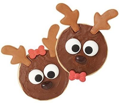 Wilton Cupcake Decorating Kit - Reindeer Treat Edible Baking Sprinkles(Multicolor Pack of 12)