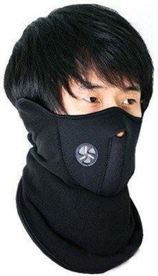 FloMaster Black Bike Face Mask for Boys(Size: Free,  Balaclava)