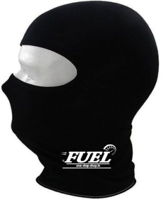 Fuel Black Bike Face Mask for Men & Women(Size: Free,  Balaclava)