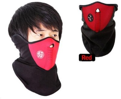 Psylane Red Bike Face Mask for Boys & Girls(Size: Free,  Balaclava)