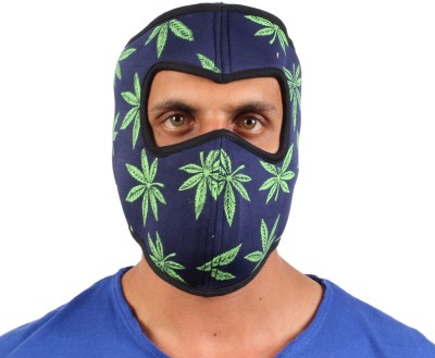 Sushito Green Leaf Design Ridder Balaclava(Multicolor, Pack of 1)