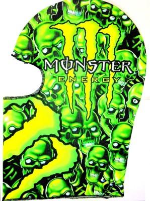 Monster Green Bike Face Mask for Boys