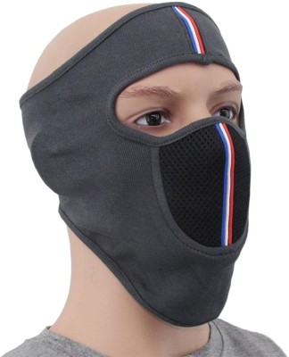TYS Black Bike Face Mask for Men & Women