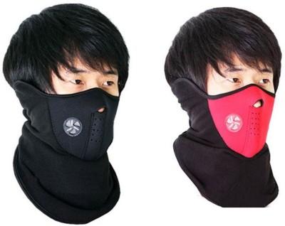 Psylane Black, Red Bike Face Mask for Boys & Girls