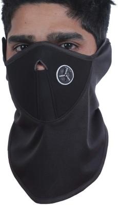 FloMaster Black, Black Bike Face Mask for Boys