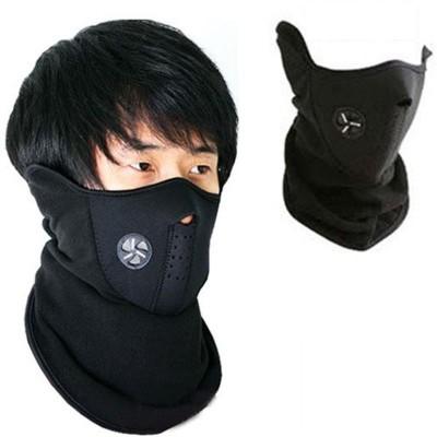 Psylane Black Bike Face Mask for Boys & Girls(Size: Free,  Balaclava)